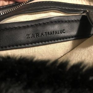 Zara Faux Fur bag/ wristlet